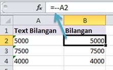 excel double unary