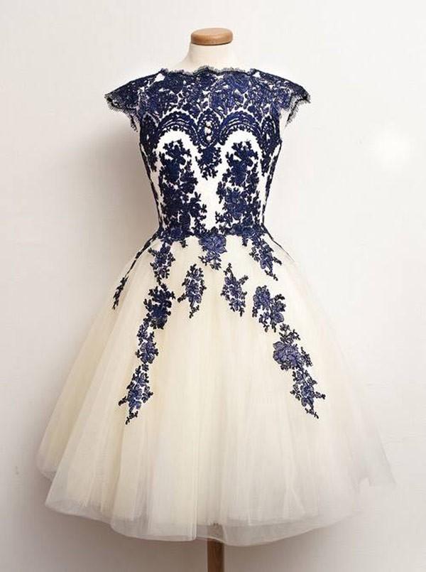Mini Chiffon Lace Sashes Short Homecoming Dress & Libertad Green: DressThat.Com Homecoming Dress Ideas