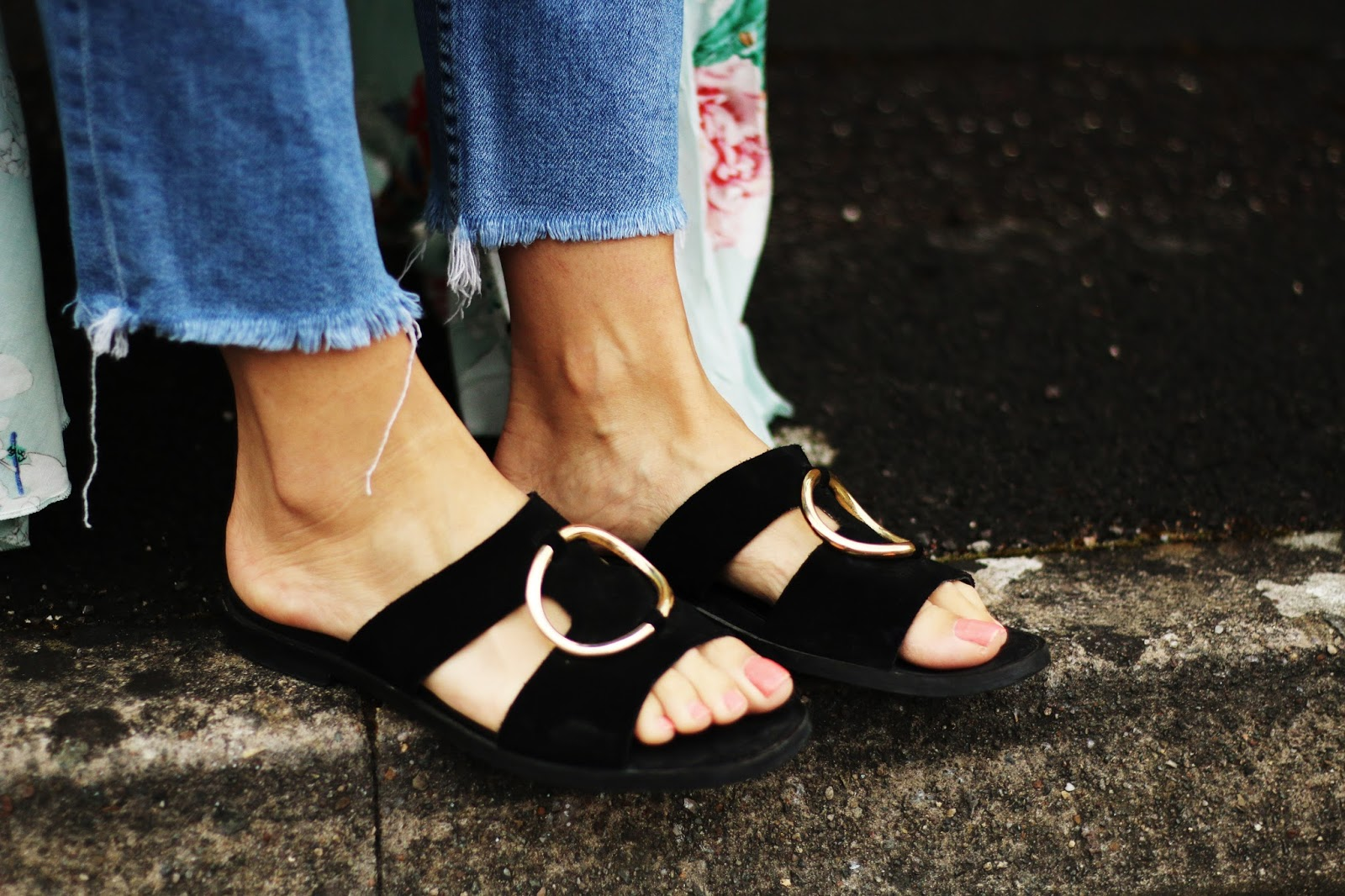 Black sandals at next