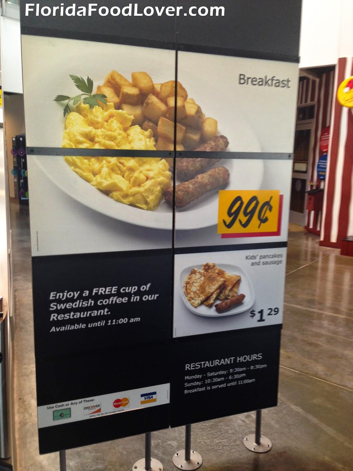 Florida Food Lover Ikea Breakfast