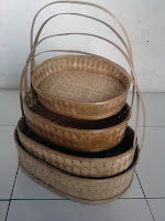 keranjang parsel bambu