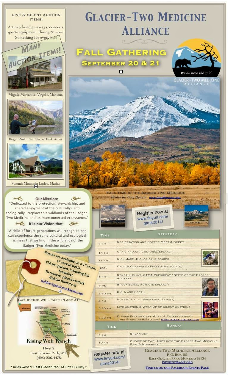 glacier two medicine fall gathering poster