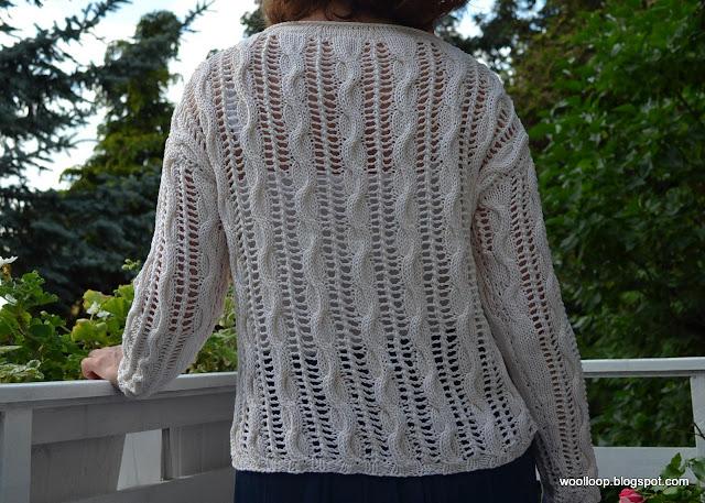 sweter ażur Muskat Drops