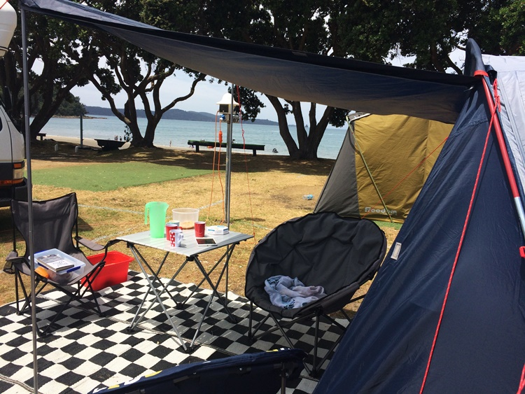 Beachfront campsite - Martins' Bay New Zealand