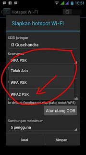 Keamanan wifi hotspot android pilih WPA atau WPA2 Yang Bagus