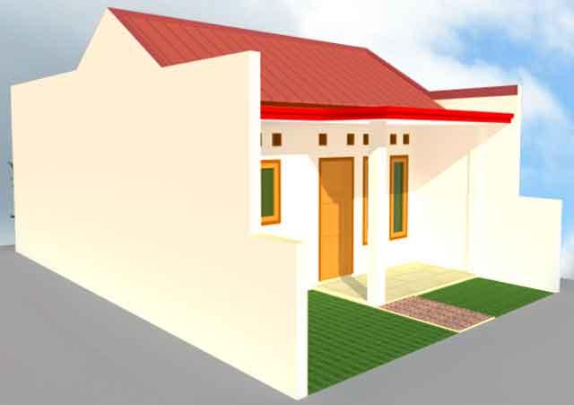 Desain Renovasi Denah Rumah Type 21/60, KPR-BTN | Gambar ...