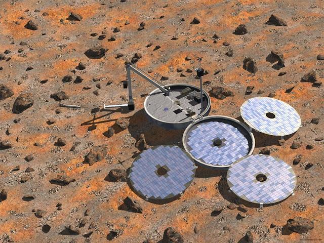ilustração da sonda Beagle 2