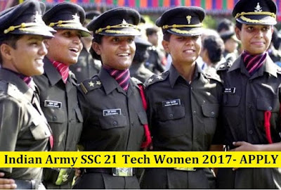 SSC Entry 21 Tech Women 2017 Indian Army