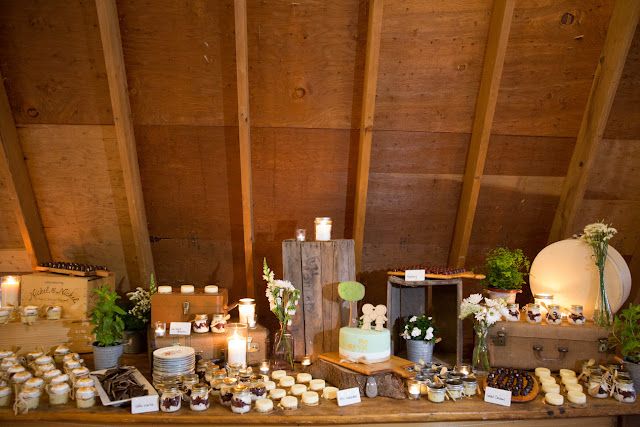 Desserts at the barn reception at Jonna and Heather's Inn at West Settlement Wedding by Karen Hill Photography