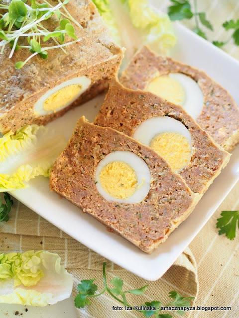 klops z jajem, pieczen z miesa mielonego, jajka na twardo, wielkanocne przepisy, przepis na wielkanoc, sniadanie wielkanocne
