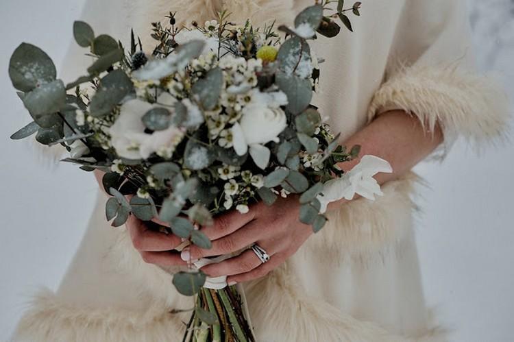 Bouquet de mariée, bridesbouquet, mariage d'hiver, winter wedding