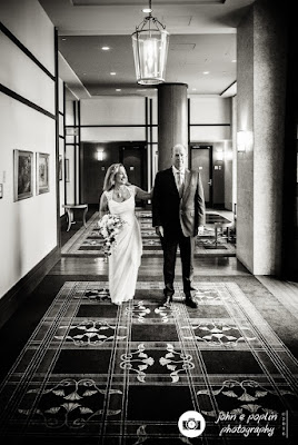 a photograph of the bride approaching the groom before their wedding