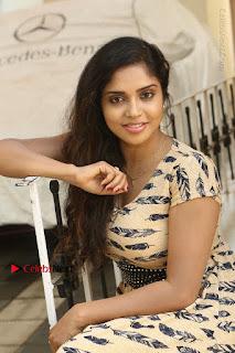 Telugu Actress Karunya Chowdary Stills in Short Dress at ATM Not Working Press Meet  0183.jpg