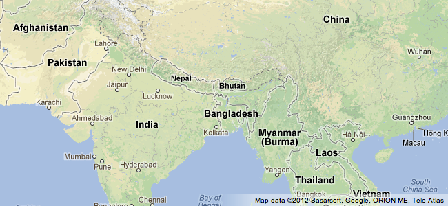 Google Map Of Asia.Google Lat Long Get A Better View Of Natural Geography With Google Maps
