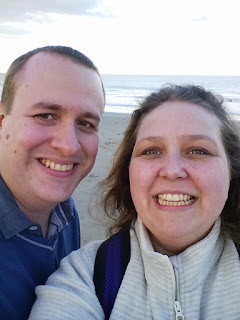 Me and my Lovely Husband on the Beach in Ireland