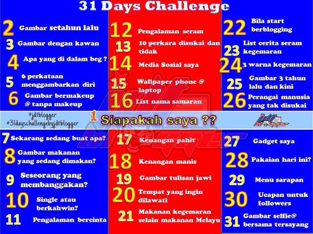 Day 13 Challenge: 10 perkara disukai dan tidak