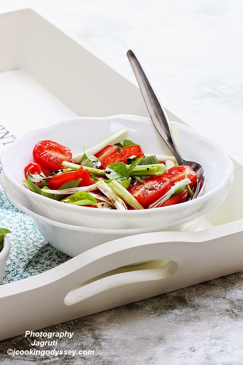 Tomato and Herb salad with Balsamic Vinaigrette
