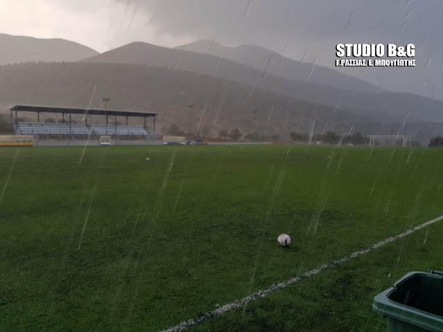 Άνοιξαν οι ουρανοί στην Αργολίδα - Ισχυρή καταιγίδα στο Λυγουριό (βίντεο)