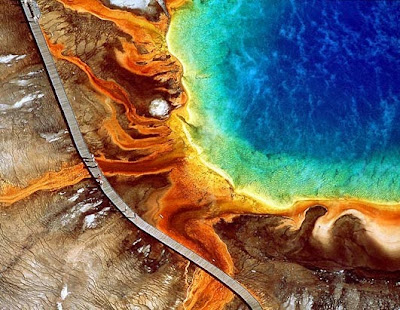 Earth from above yellowstone by Yann Arthus Bertrand