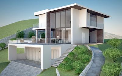 Arredamento e dintorni progetto villa moderna in sardegna - Progetto di casa moderna ...