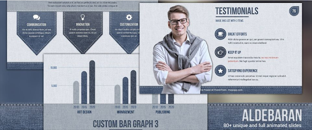 Download Template Powerpoint Keren Gratis - Albedaran