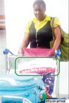 woman imports cocaine using duty free bag