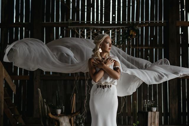 Kreacja ślubna boho