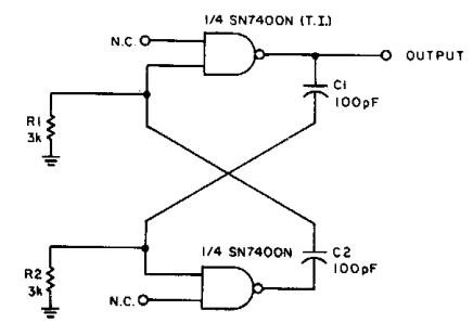 2MHz Square Wave generator Circuit Diagram