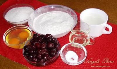 Preparare tarta cu visine-etapa 1