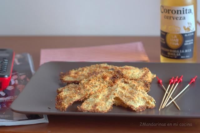Chips de calabacín con parmesano
