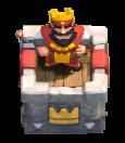 Torre do Rei em modo de espera - Clash Royale