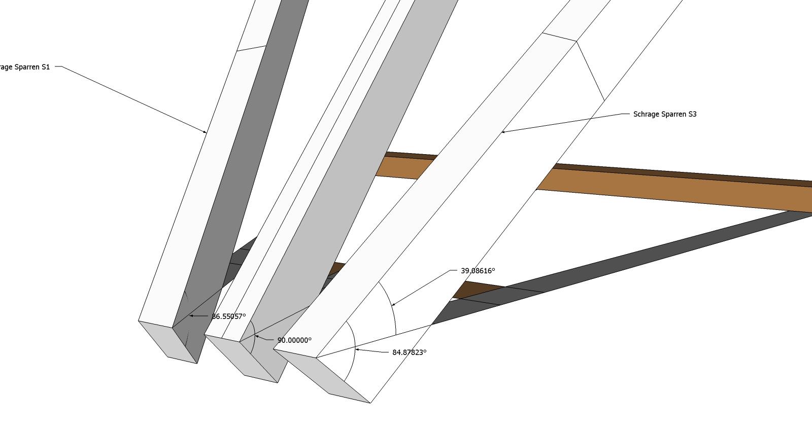 Roof Framing Geometry Schr 228 Ge Sparren