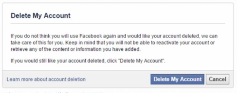 Permanently Delete Facebook Account Link