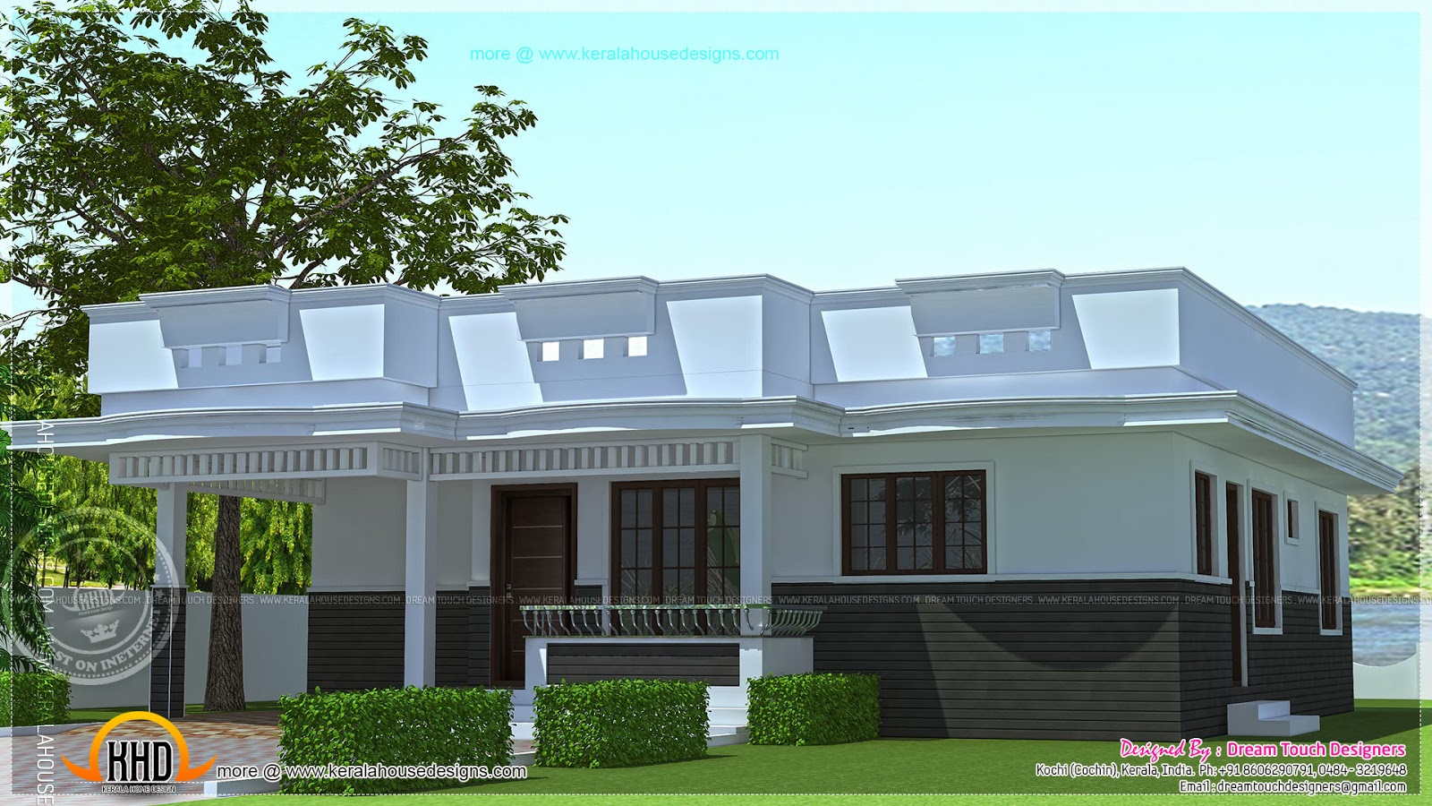 Single Floor House Design In 1250 Square Feet Kerala Home
