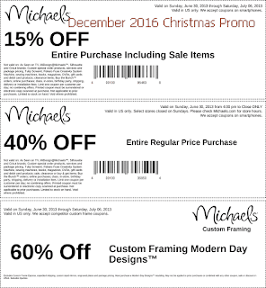Michaels coupons december