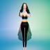 acc_see through unbalance skirts_악세사리용 시스루 언발란스 스커트_여성 악세사리