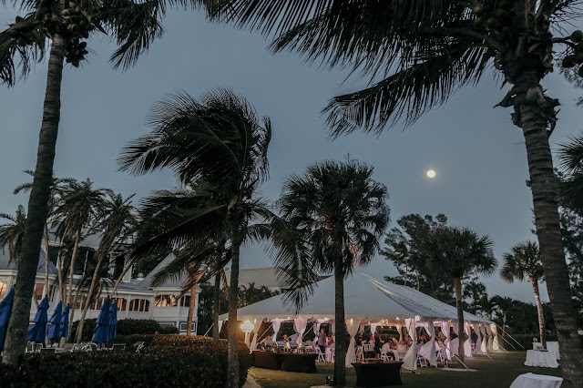 tented wedding on sanibel island