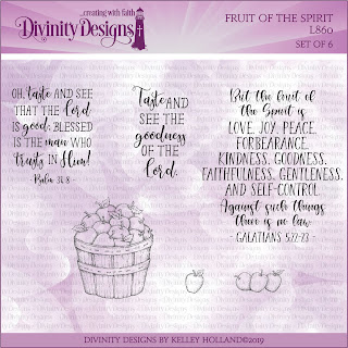 Divinity Designs Stamp Set: Fruit of the Spirit