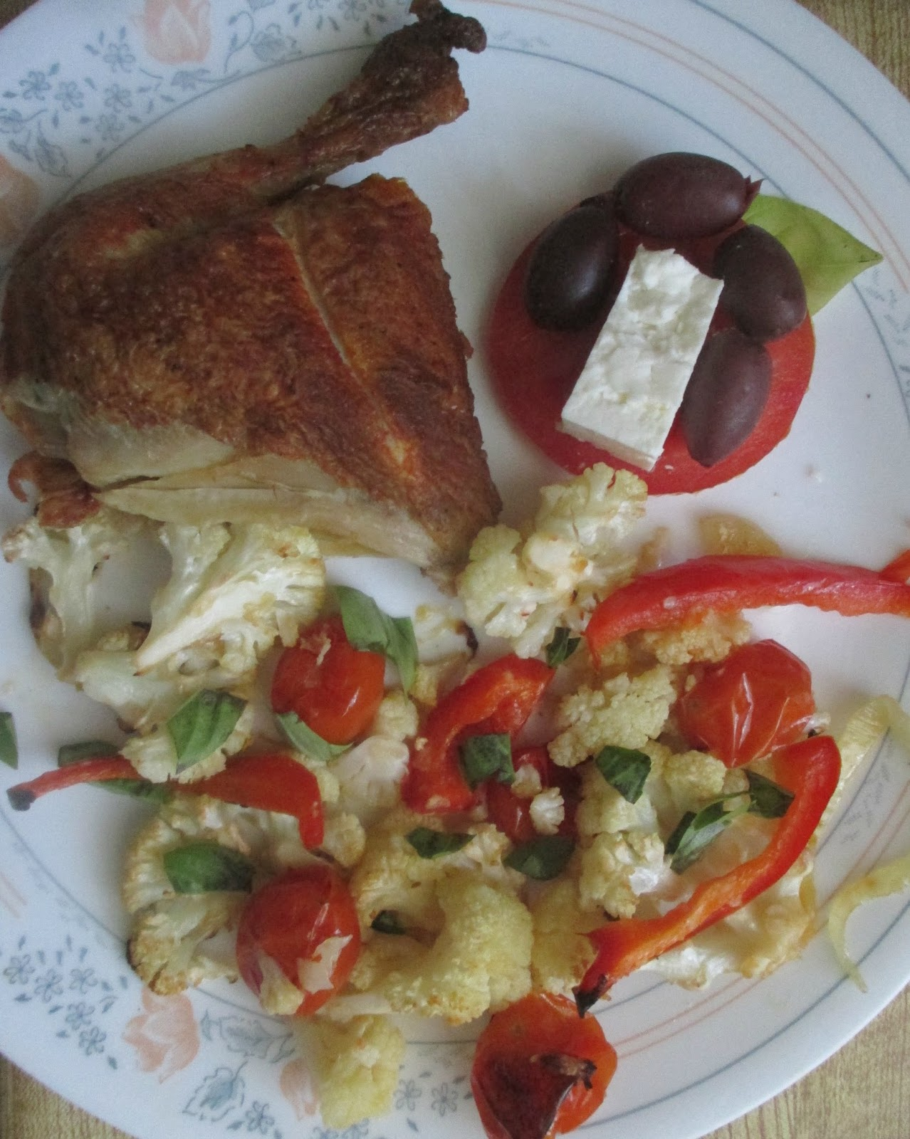 Just my Stuff: Roasted Cauliflower and Tomatoes