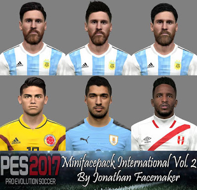 PES 2017 Mini facepack International by Jonathan Facemaker