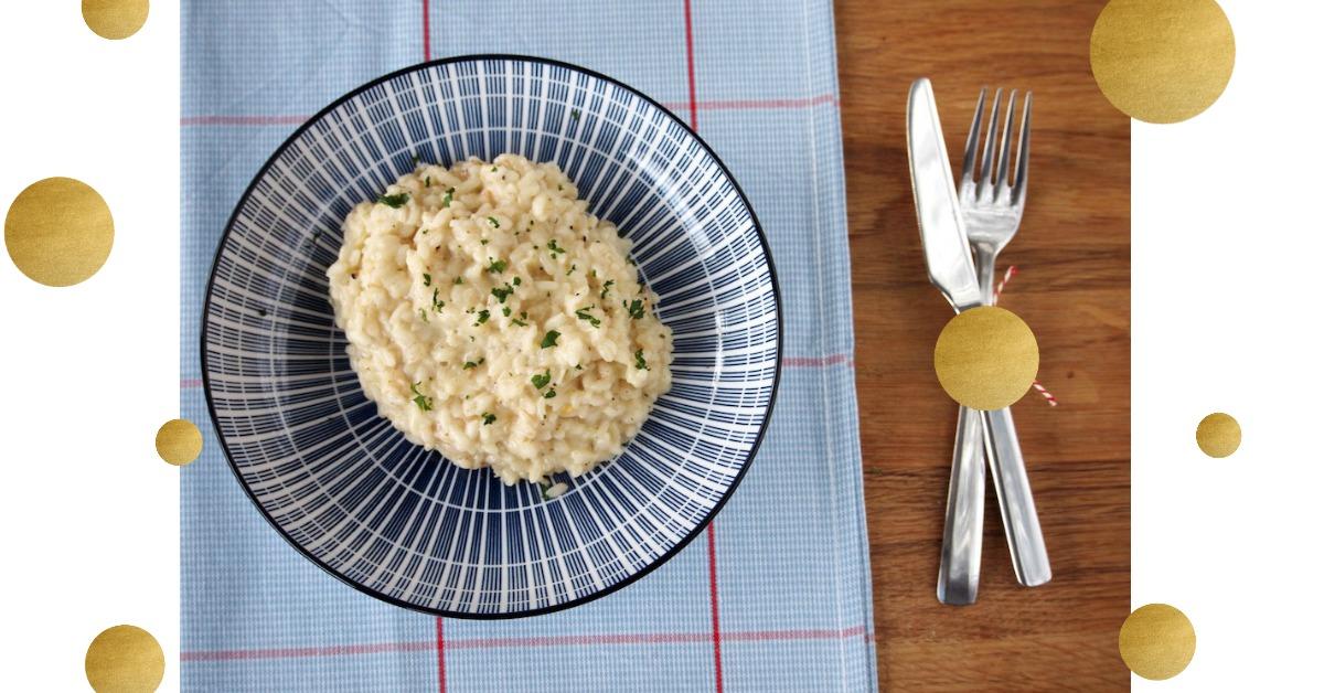 Truffel risotto met proseco