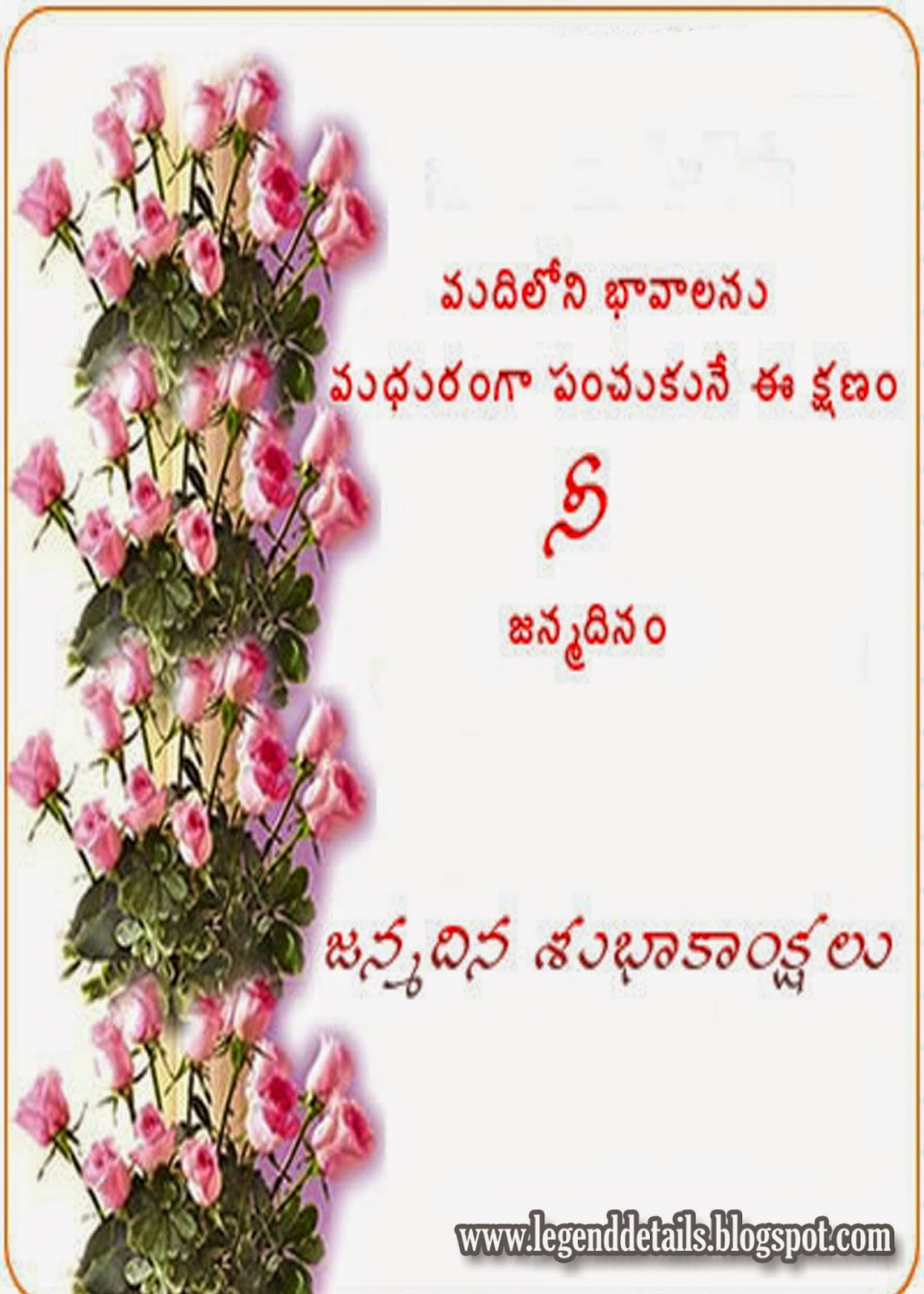 Birth Day Greetings In Telugu Free Subhakankshalu With