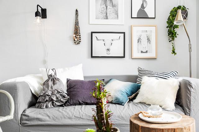plantas, textiles y complementos para refrescar la casa