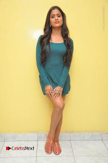 Telugu Actress Prasanthi Stills in Green Short Dress at Swachh Hyderabad Cricket Press Meet  0118.JPG