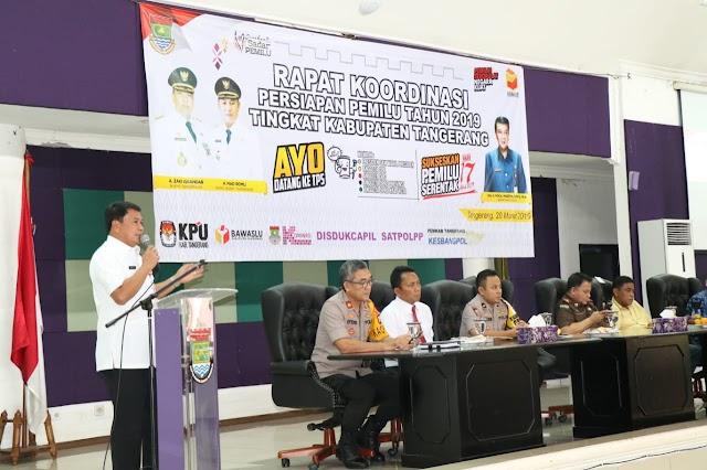 Sekda Pimpin Rakor Persipan Pemilu 2019