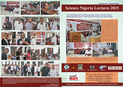 Science Nigeria Lectures: Promoting the Works and Contributions of Nigerian Scientists