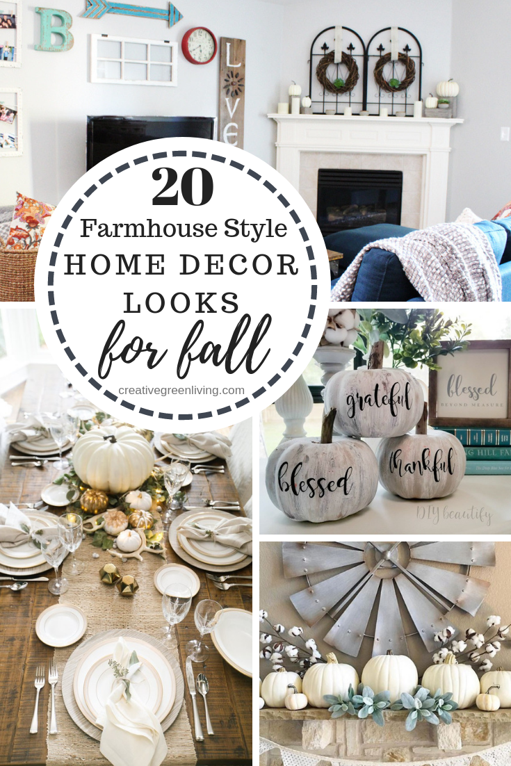 20 different farmhouse style home decor looks for fall
