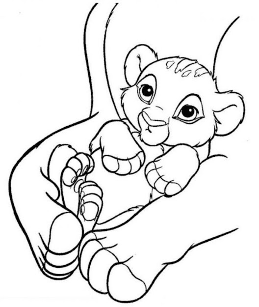 Free Printable Simba Coloring Pages For Kids For Simba Coloring Pages