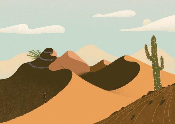 Mikyung Lee ilustrações Odyssey paisagens mulheres nuas singelas
