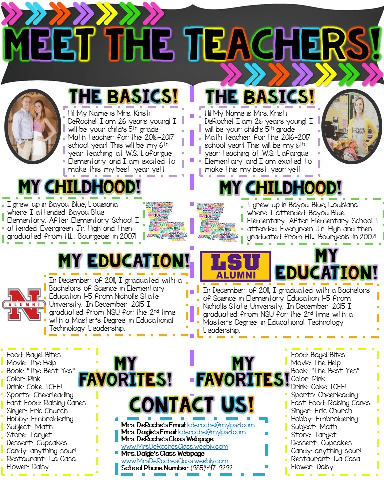 Meet the teacher template images template design ideas for Meet the teacher brochure template